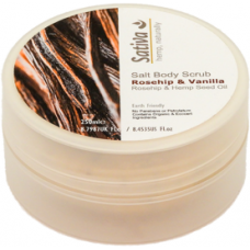 Vanilla & Rosehip Salt Body Scrub - 250ml